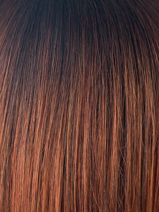 CRIMSON-LR | Rooted with dark burgundy and with light coppery ends