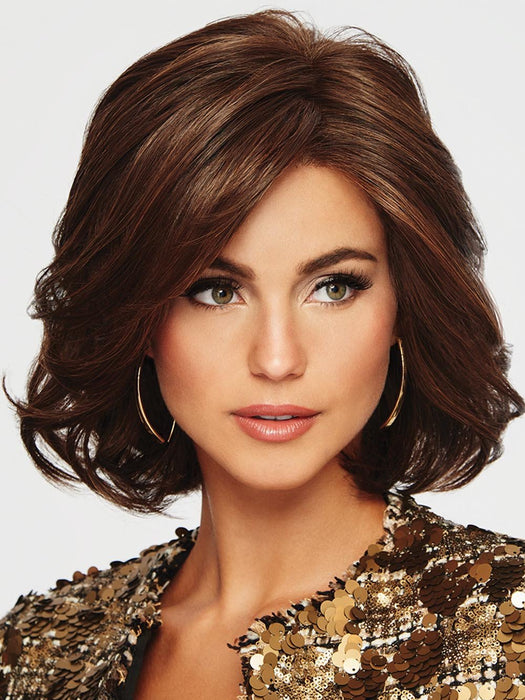 CROWD PLEASER by RAQUEL WELCH | 20th Anniversary | RL4/6 BLACK COFFEE | Dark Brown Evenly Blended with  Medium Brown
