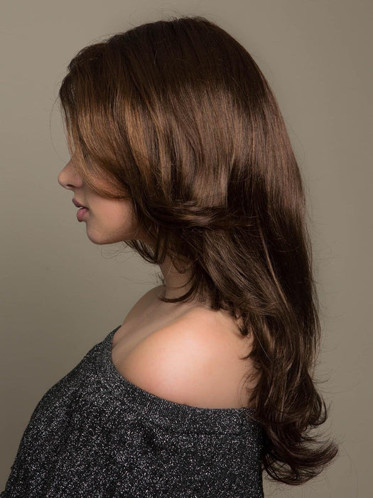 GLOW by ELLEN WILLE IN CHOCOLATE MIX | Medium to Dark Brown base with Light Reddish Brown highlights