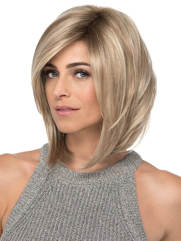 SKY Wig by ESTETICA in RH1488RT8 | Highlighted Copper Blonde With Golden Brown Roots