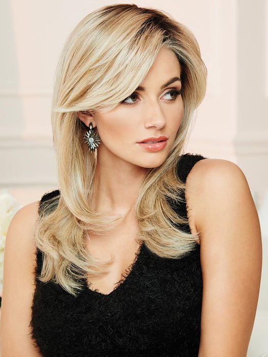 SPOTLIGHT by RAQUEL WELCH | 20th Anniversary | RL19/23SS SHADED BISCUIT | Light Ash Blonde Evenly Blended with Cool Platinum Blonde with Dark Roots
