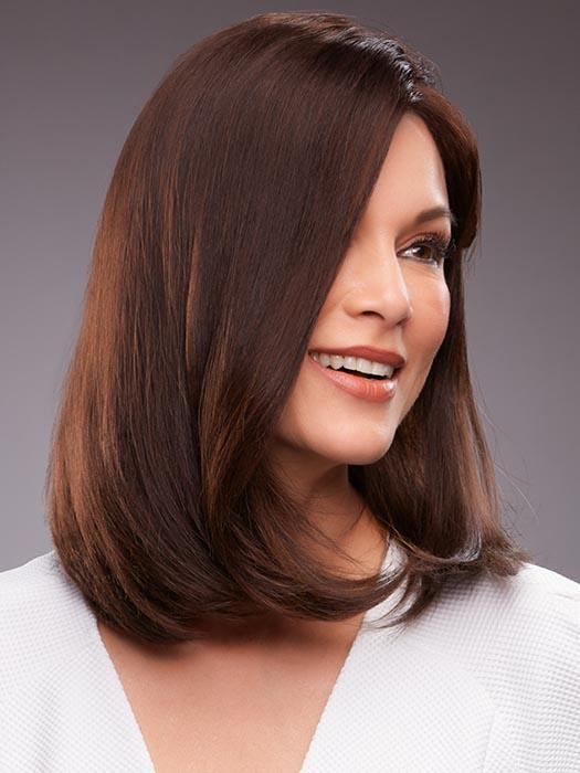 GWYNETH by JON RENAU in 4RN | Darkest Brown (Human Hair Renau Natural)