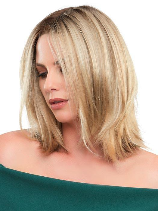 With unapologetic lines, the Marion Wig by Jon Renau has this sleek shoulder-length bob projects no-excuses determination