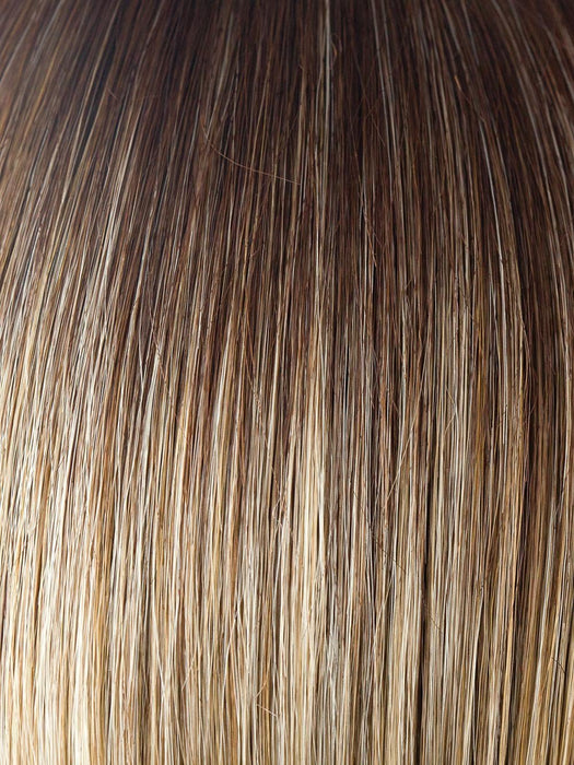 CREAMY TOFFEE LR | Longer rooted dark with light platinum blonde and light honey blonde