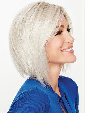 "On Edge Wig by Gabor is this ""shattered"" below-the-chin bob has edgy, fashion-forward flair"