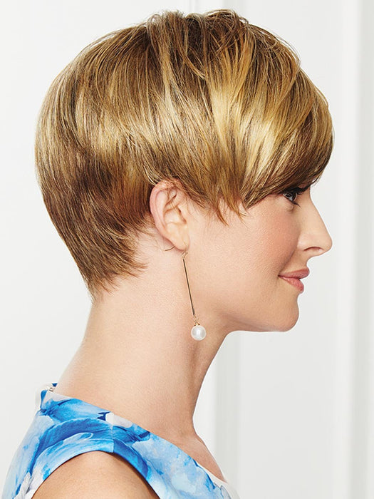 Longer lengths on the top can be worn smooth or tousled for a touch of whimsy