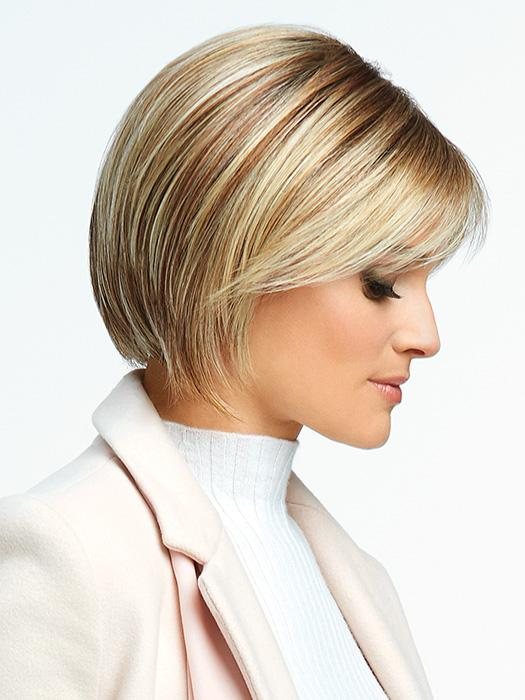 Classic Cool Wig by Raquel Welch has light bangs and softly sculpted lengths along the sides are designed to flatter the face with ease