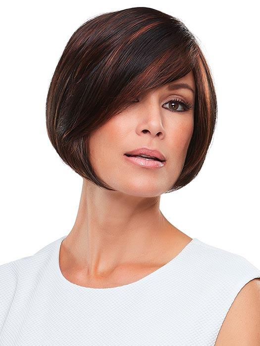 This short, minimalist bob can be smoothed for a posh silhouette or flipped out for fierce texture.
