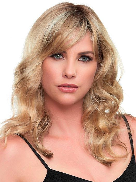 ALEXIS by JON RENAU in 12FS8 | Light Gold Brown, Light Natural Gold Blonde and Pale Natural Gold-Blonde Blend, Shaded with Medium Brown