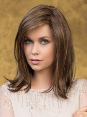 EFFECT Hair Topper by ELLEN WILLE in CHOCOLATE MIX | Medium to Dark Brown Base with Light Reddish Brown Highlights