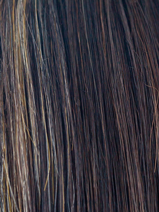 CARAMEL BROWN | Dark reddish brown plus gold highlights on the fac-