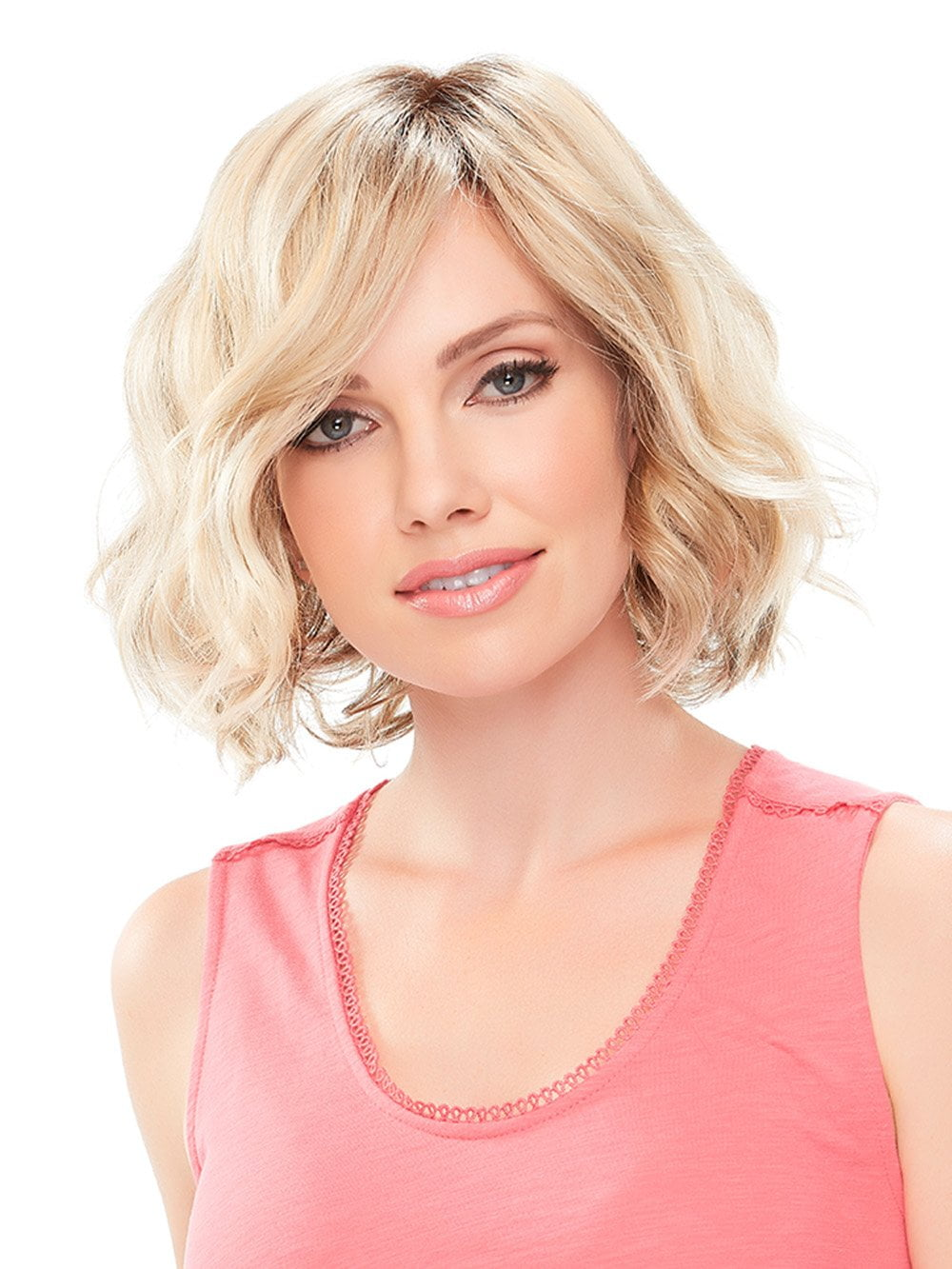 JANUARY by JON RENAU in 12FS8  | Light Gold Blonde and Pale Natural Blonde Blend, Shaded with Dark Brown