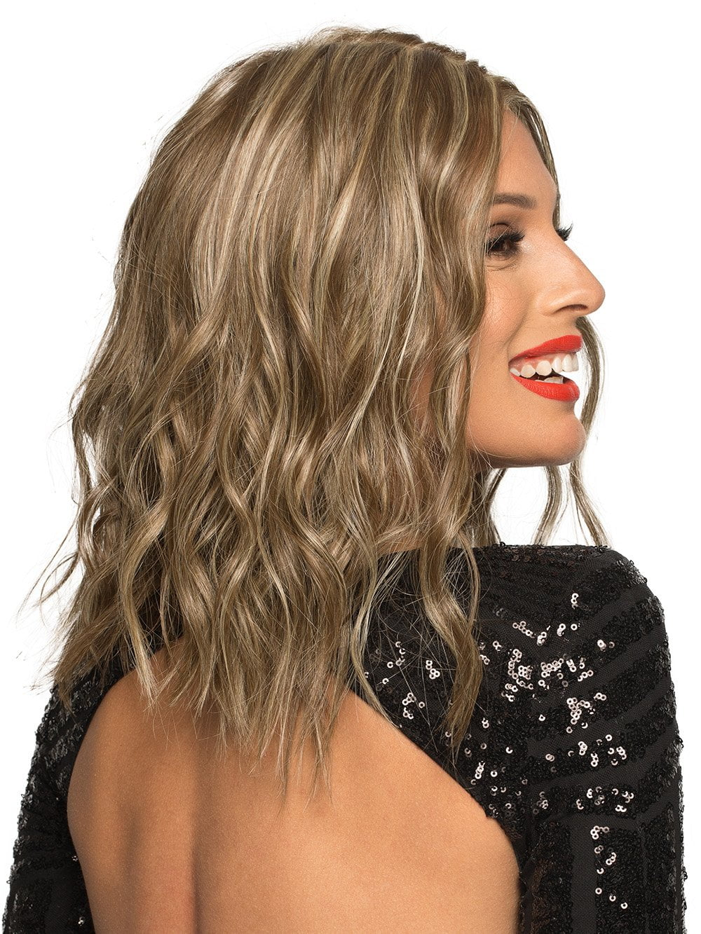 Chelsea by Envy is a timeless elegance that abounds with this classic, shoulder-length style. Made from a blend of 30% human hair with 70% heat-friendly fiber.