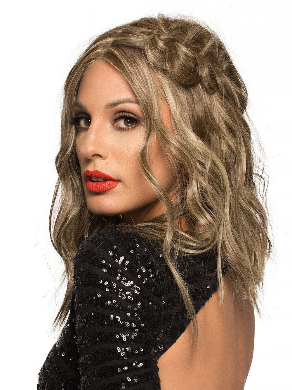 This wig can be curled, straightened, and blow-dried just like the real thing!