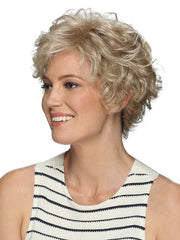 With her beautiful loose spiral curls, this layered bob looks great with any face shape
