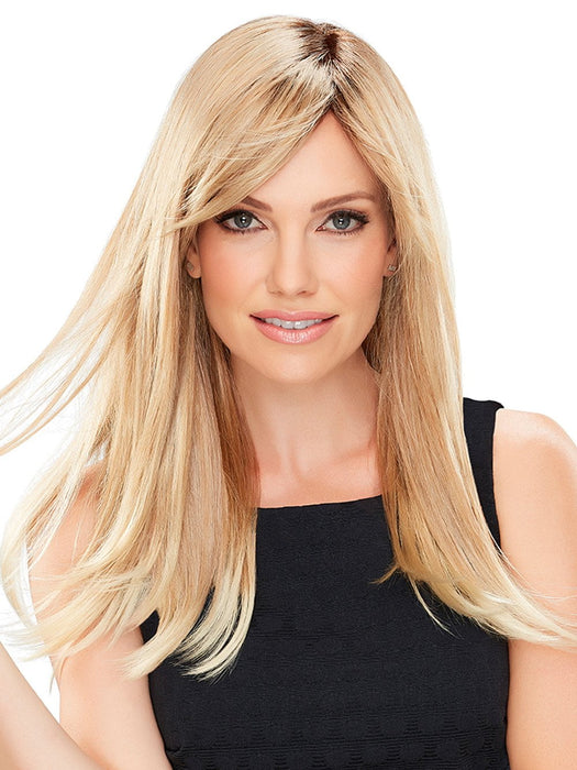 CAMILLA Wig by JON RENAU in 27T613S8  | Medium Natural Red-Gold Blonde and Pale Natural Gold Blonde Blend and Tipped, Shaded with Medium Brown