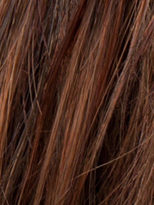HOT CHOCOLATE ROOTED | Medium Brown, Reddish Brown, and Light to Medium Auburn blend with dark Roots