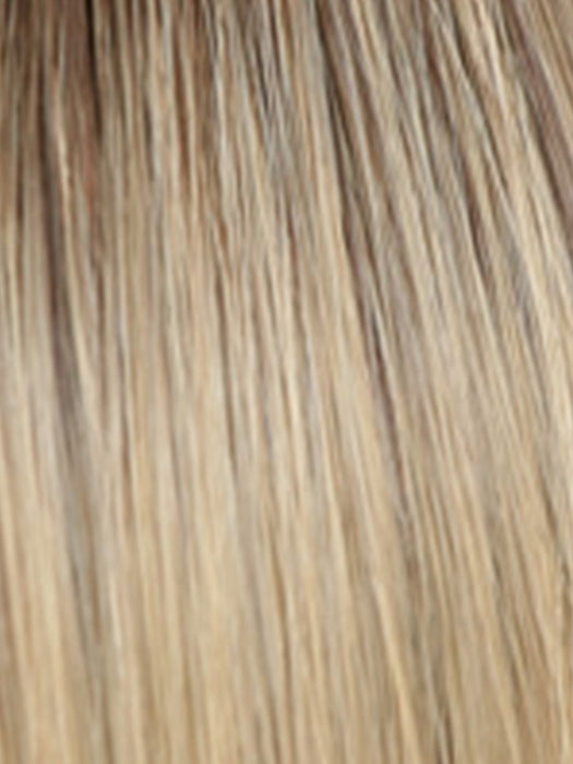 02-7 | Medium Light Chestnut Brown, Dark Golden Ash Blonde with Dark Roots