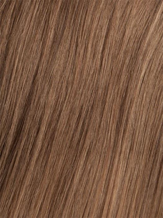 6/30T Medium Chestnut Brown Blended with Medium Auburn, Medium Auburn Tips