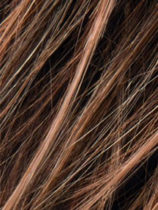 NUT BROWN ROOTED | Med Brown, blended with Med golden blonde mix and Chocolate Brown with Dark Roots