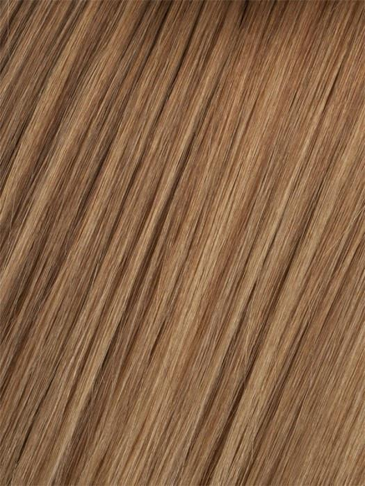 10/14T Medium Golden Brown Blended with Dark Ash Blonde, Dark Ash Blonde Tips