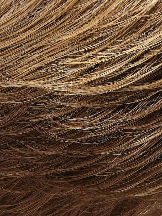 10/26TT | Light Brown and Medium Red-Gold Blonde Blend with Light Brown Nape