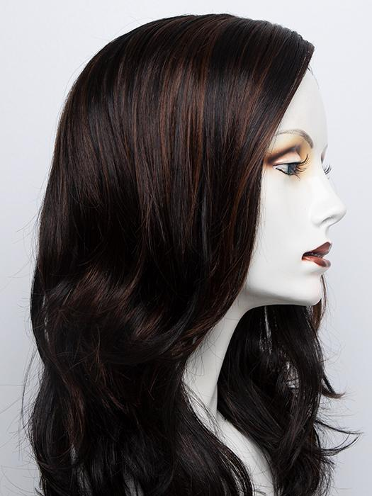 1BRH30 | Soft Black with 33% Gold-Red Highlights
