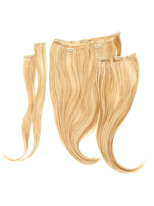 4 Piece Wavy Fineline Clip In Hair Extension Kit | Heat Friendly Synthetic Hair | 22 inches long