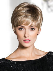 LIV by Rene of Paris in CREAMY-TOFFEE-R | Rooted Dark with Light Platinum Blonde and Light Honey Blonde evenly blended