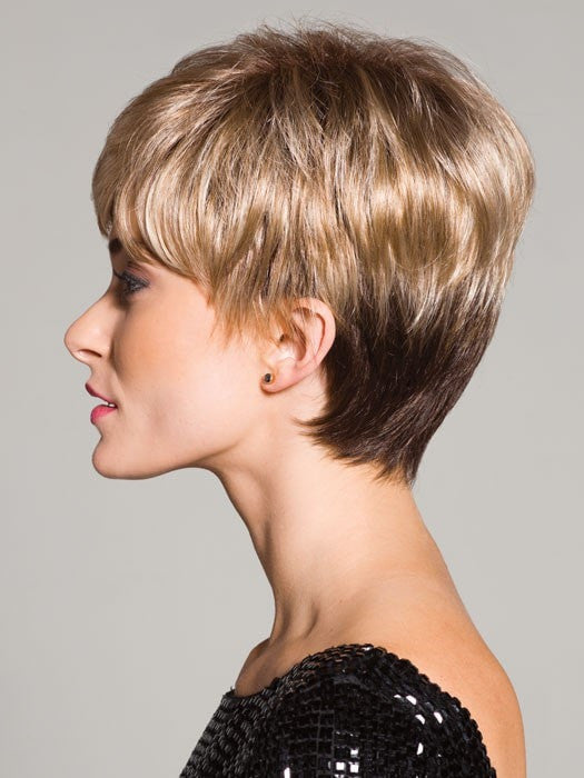 A smooth, layered, and pixie cut ready to wear wig