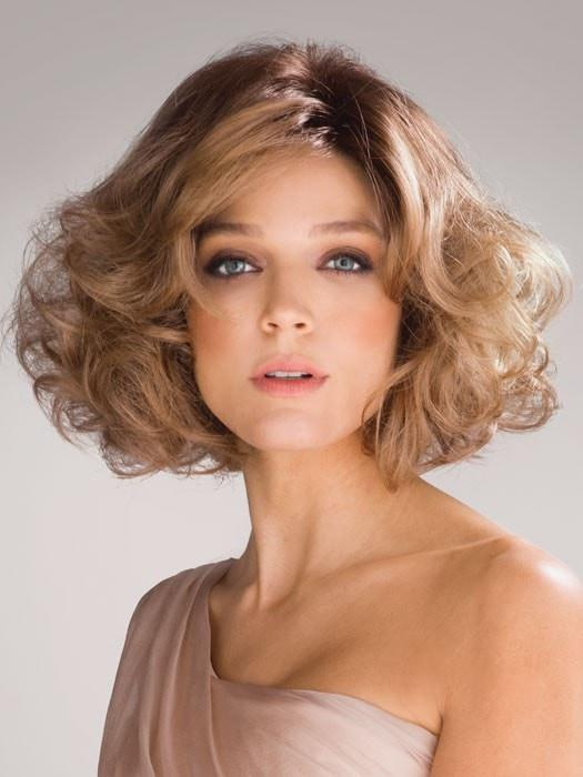 AMAL by Rene of Paris in MACADAMIA-LR | The root is soft brown color that melts into a beige blonde color.