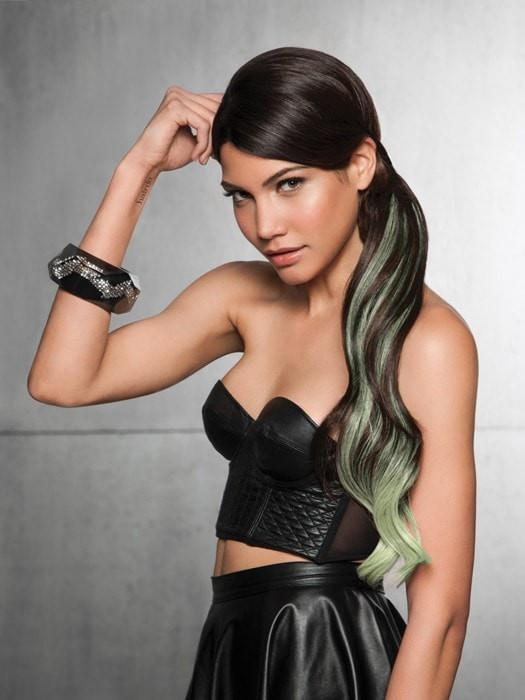 "23"" COLOR SPLASH PONY by Hairdo in R4/GREEN 