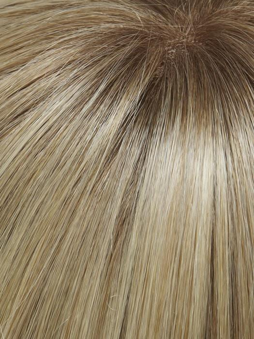 24B613S12 | Medium Natural Ash Blonde & Pale Natural Gold Blonde Blend and Tipped, Shaded with Light Gold Brown