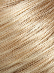 27T613F - Medium red gold blonde & Pale natural gold blonde blend w/Pale tips & medium red-gold blonde w/Medium brown