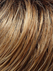 27T613S8 - Medium natural red-Golden blonde & Pale natural golden blonde blend & tipped Shaded with a medium brown root
