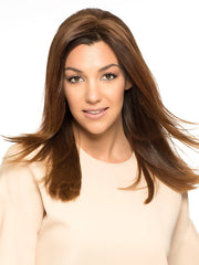 FRONT LINE by WIG PRO in 6/30T Medium Chestnut Brown Blended with Medium Auburn, Medium Auburn Tips