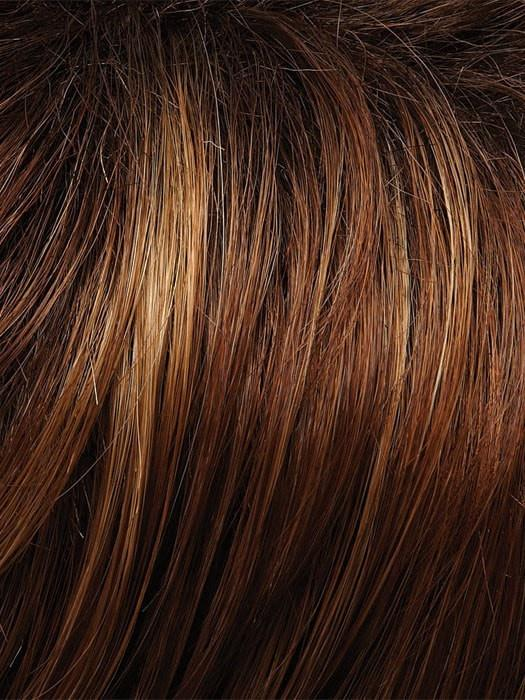 30A27S4 SHADED PEACH | Brown Red/Strawberry Blonde Blend, Shaded with Dark Brown