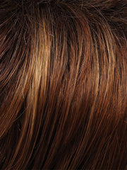 30A27S4 - Medium natural red & Medium red golden blonde & Pale natural gold blonde tips shaded with Medium Bown