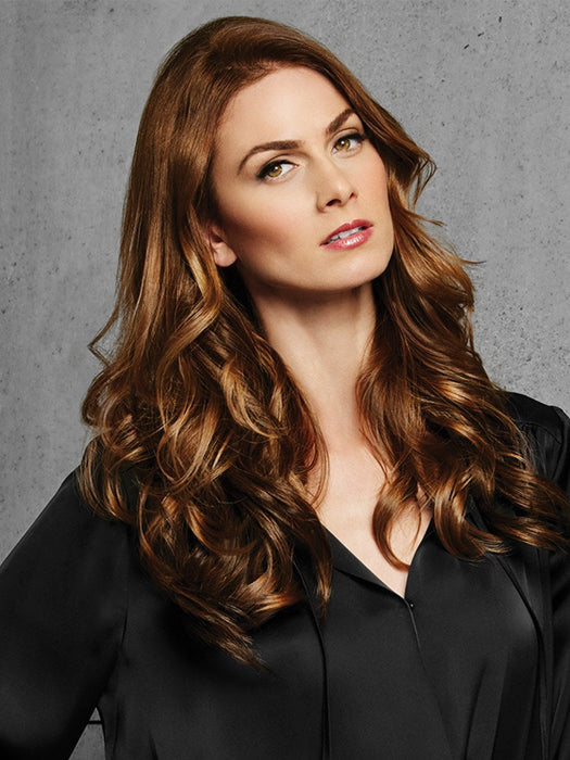 3 PC Wavy Clip In Extension Kit by Hairdo in R10 CHESTNUT | Rich Medium Brown with subtle Golden Brown Highlights Throughout