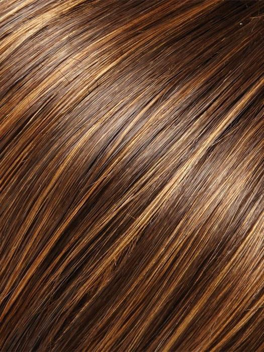 6F27 CARAMEL RIBBON  | Natural Gold Brown with Medium Red-Gold Blonde Highlights and Tips