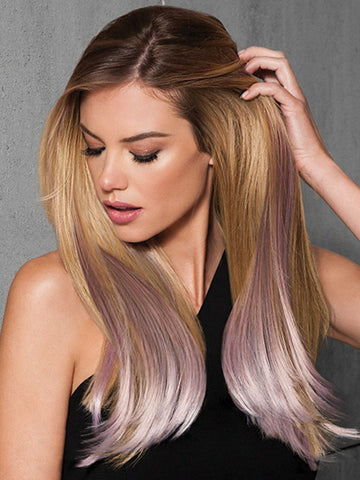 6 PC STRAIGHT CLIP-IN COLOR EXTENSION KIT by hairdo in ICED VIOLET