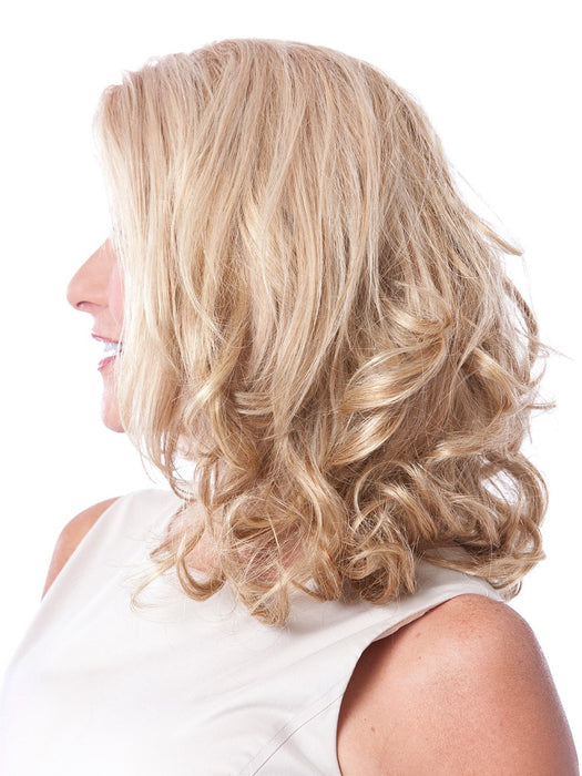 Clip-in curly hair extension with 3 layers of hair that gives you fabulous, fuller hair in an instant