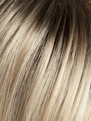 8-263R Creme Brulee | Rooted Dark with Gold Blonde base
