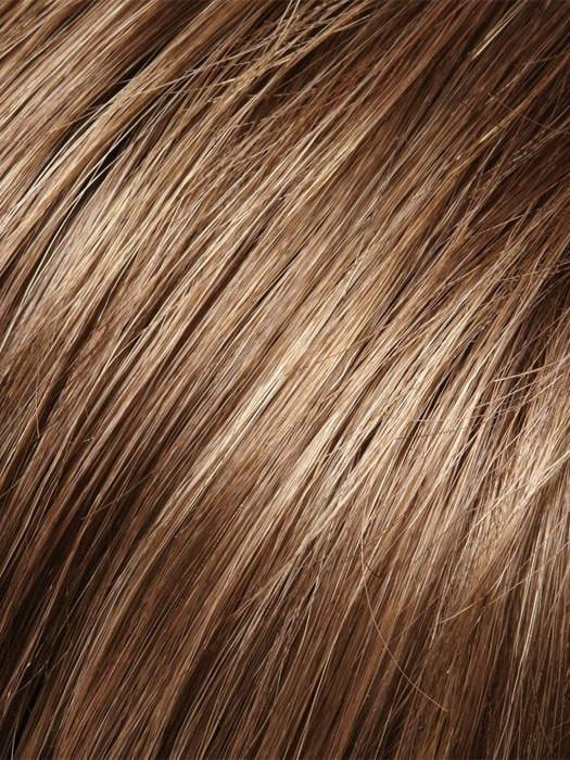 8RH14 HOT COCOA  | Medium Brown  with 33% Light Natural Ash Blonde Highlights