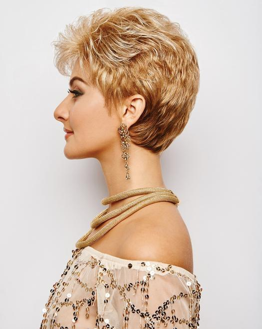 ACCLAIM Petite Wig by Gabor in G15+ BUTTERED TOAST MIST | Warm Blonde with Pale Highlights on top