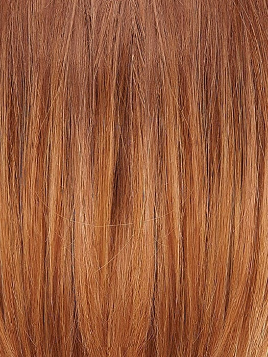B8-27/30RO | Medium Natural Brown Roots to Midlengths, Medium Red-Gold Blonde Midlengths to Ends