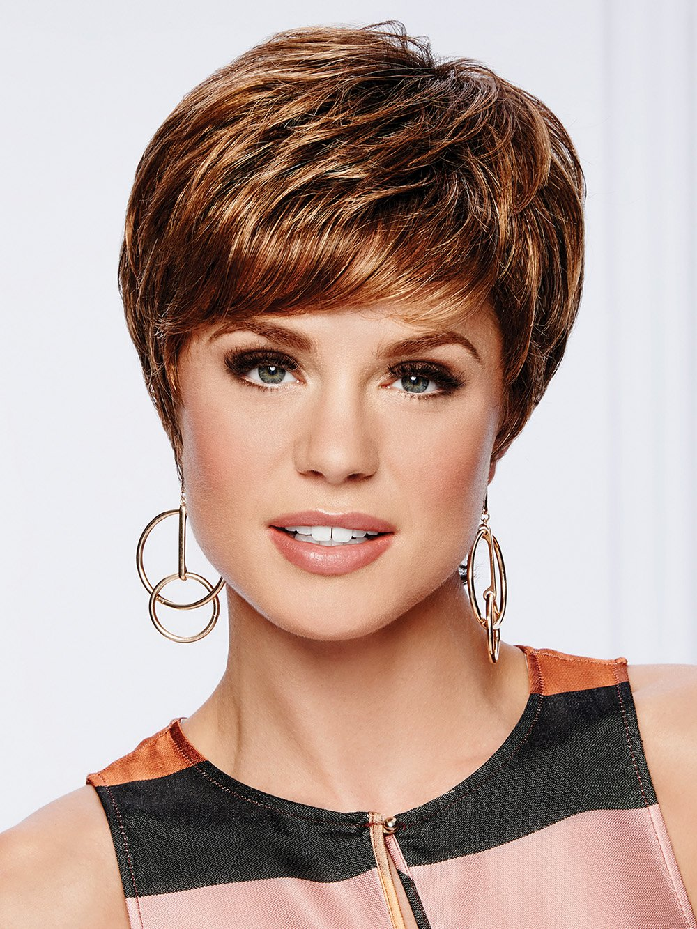 Beauty Spot Wig by Gabor in GL 8-29SS HAZELNUT | Coffee Brown with Soft Ginger Highlights