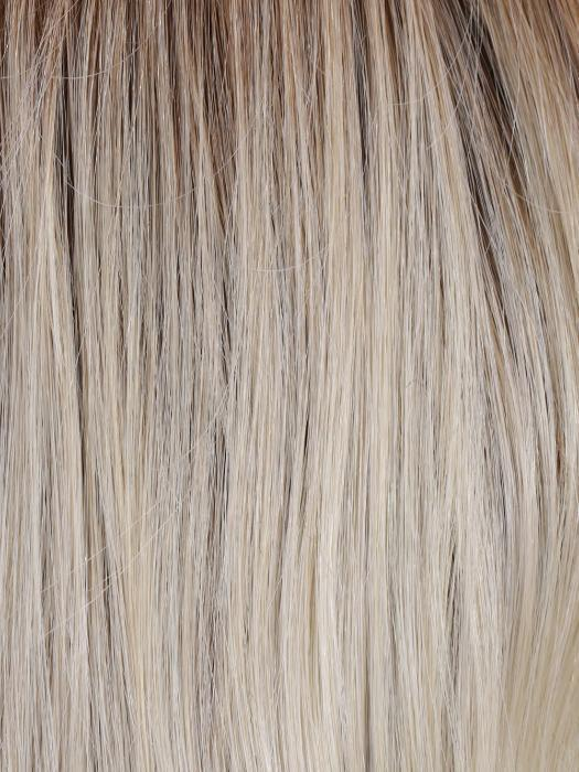 BOMBSHELL BLONDE | Golden brown root with a blend of white, pure blonde and satin blonde