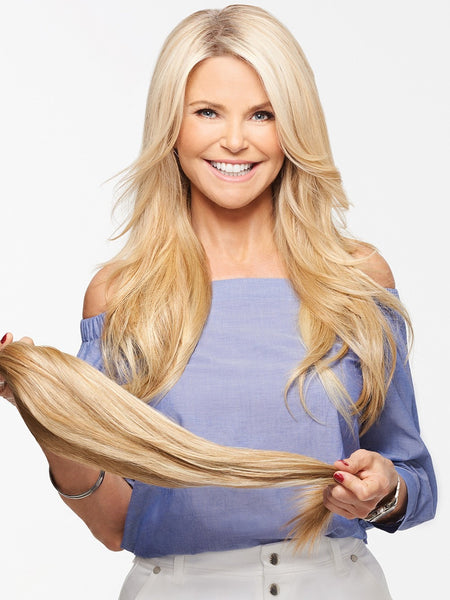 21 Quot Straight Clip In Extensions By Christie Brinkley