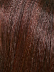 CHOCOLATE-CHERRY | Dark Brown roots with overall Medium Brown base with Deep Red highlights